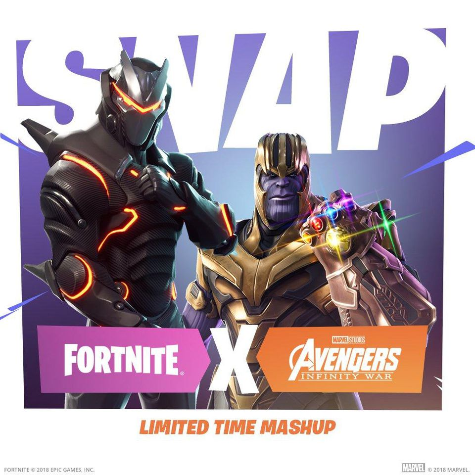 'FORNITE x AVENGERS: INFINITY WAR' CROSSOVER TO HAPPEN TOMORROW